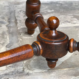 19th Century Walnut Turners Table - Turned Stretcher Detail - 11