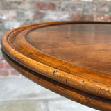 19th Century Walnut Turners Table - Detail of Rim - 4