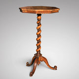 19th Century Rosewood Octagonal Lamp Table - Main View - 2