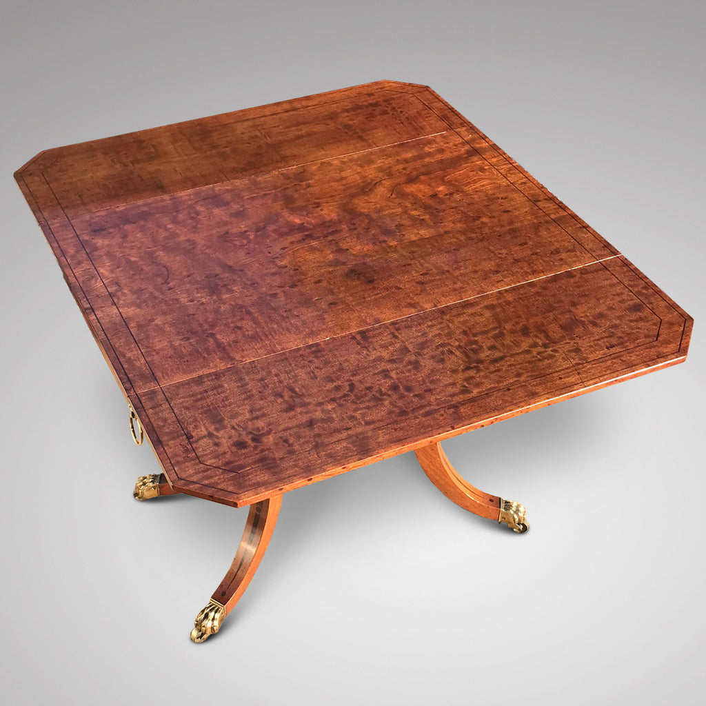 George III Egyptian Revival Plum Pudding Mahogany Supper Table - Top View - 7