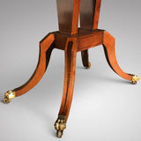 George III Egyptian Revival Plum Pudding Mahogany Supper Table - Under Carriage  View - 5
