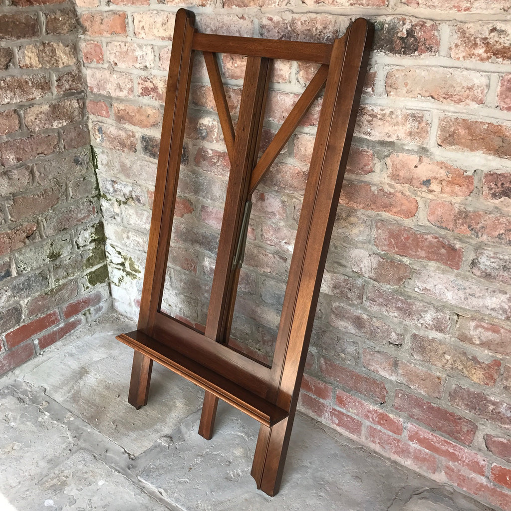 19th Century Mahogany Artists Easel by Vokins - Fully Folded View - 10