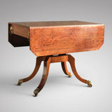 George III Egyptian Revival Plum Pudding Mahogany Supper Table - Side View - 3