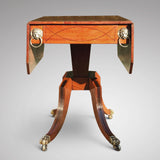 George III Egyptian Revival Plum Pudding Mahogany Supper Table - Front View - 4