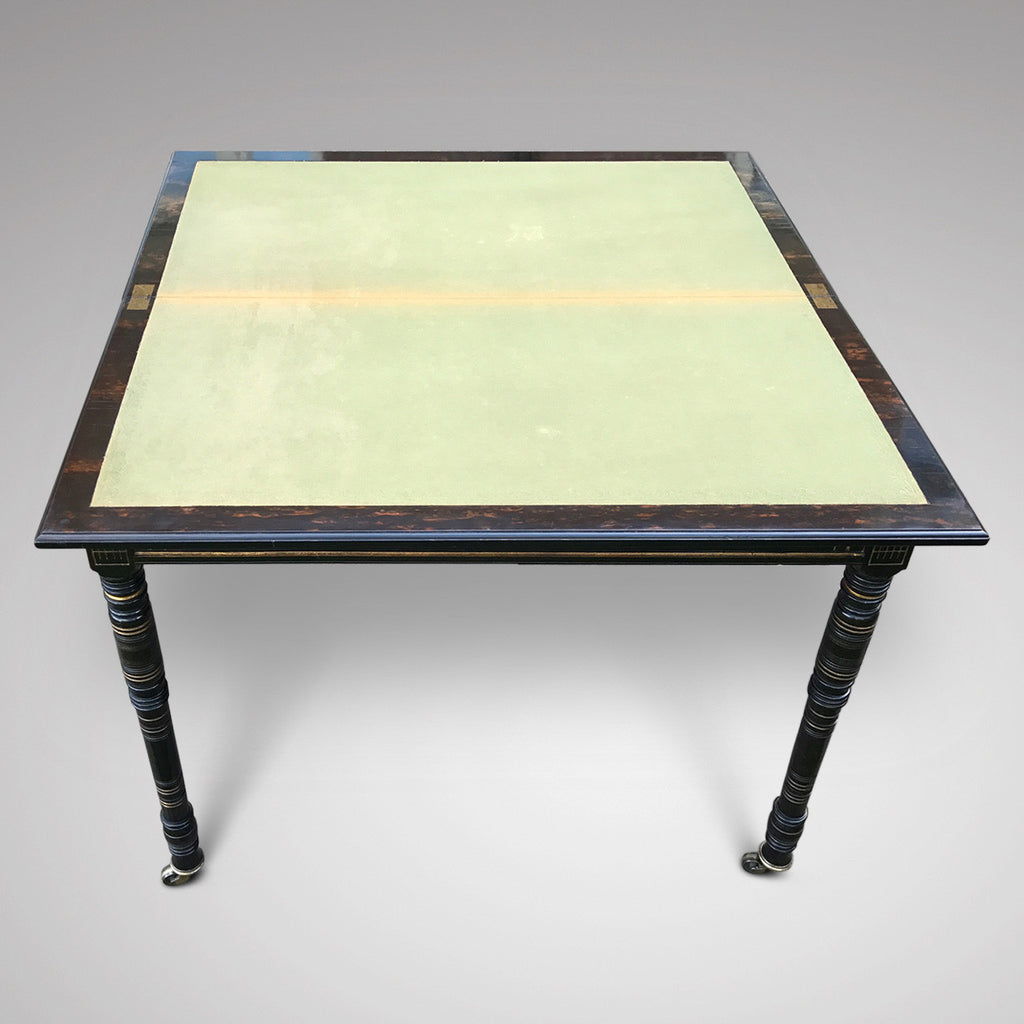 19th Century Coromandel Card Table by Gregory & Co - View of Table Opened - 4