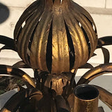 Italian Gilt Metal Pomegranate Chandelier - Detail View - 3
