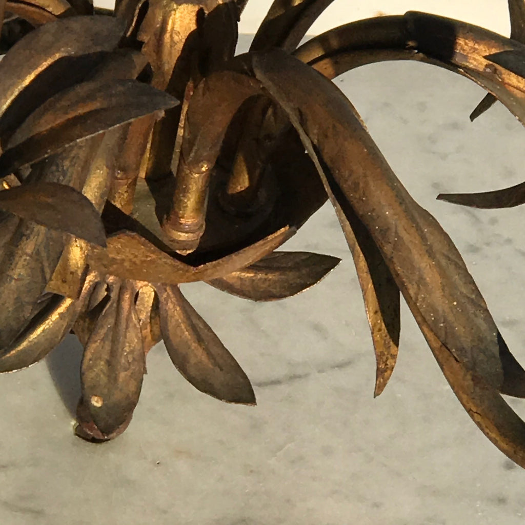 Italian Gilt Metal Pomegranate Chandelier - Detail View - 4