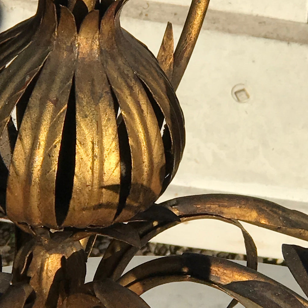 Italian Gilt Metal Pomegranate Chandelier - Detail View - 5