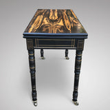 19th Century Coromandel Card Table by Gregory & Co - Side View - 2