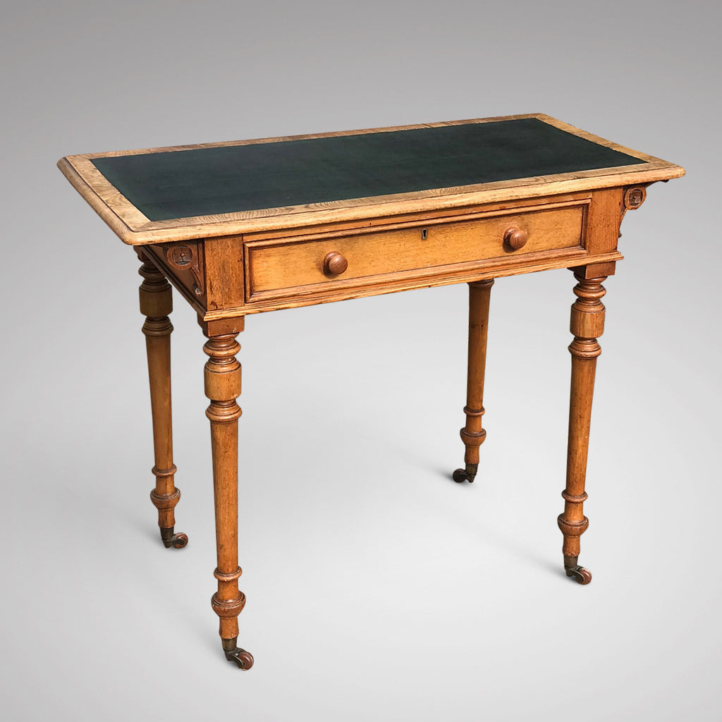 Aesthetic Movement Ash Writing Table by Robson & Son - Main View - 2
