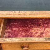 Aesthetic Movement Ash Writing Table by Robson & Son - Detail View - 5