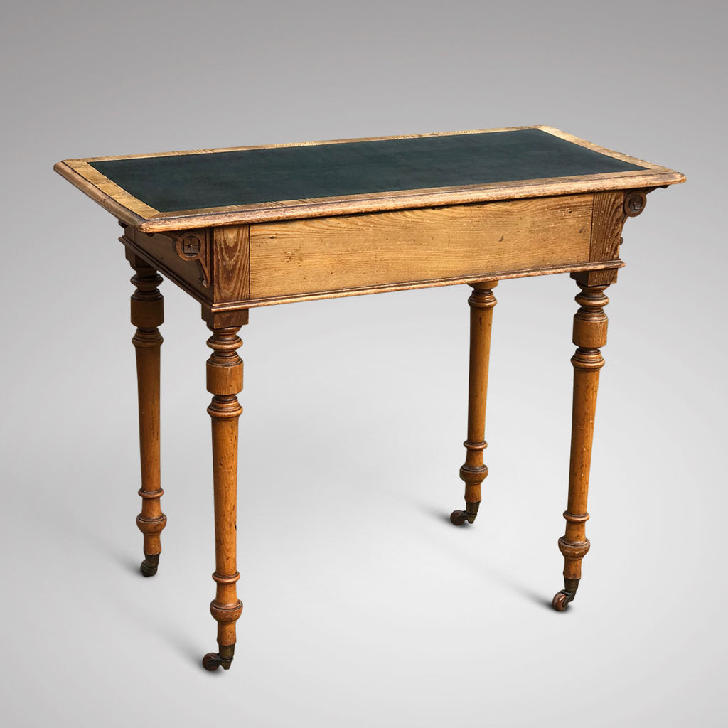 Aesthetic Movement Ash Writing Table by Robson & Son - Back View - 4