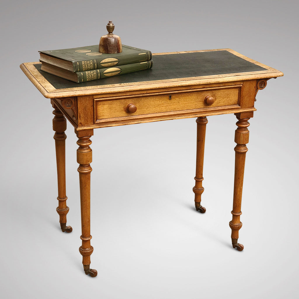 Aesthetic Movement Ash Writing Table by Robson & Son - Main View - 1