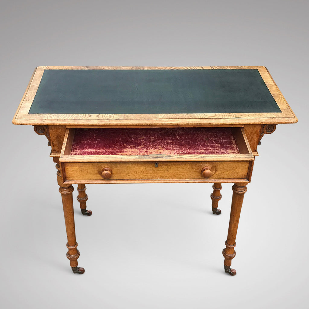 Aesthetic Movement Ash Writing Table by Robson & Son - Main View - 3