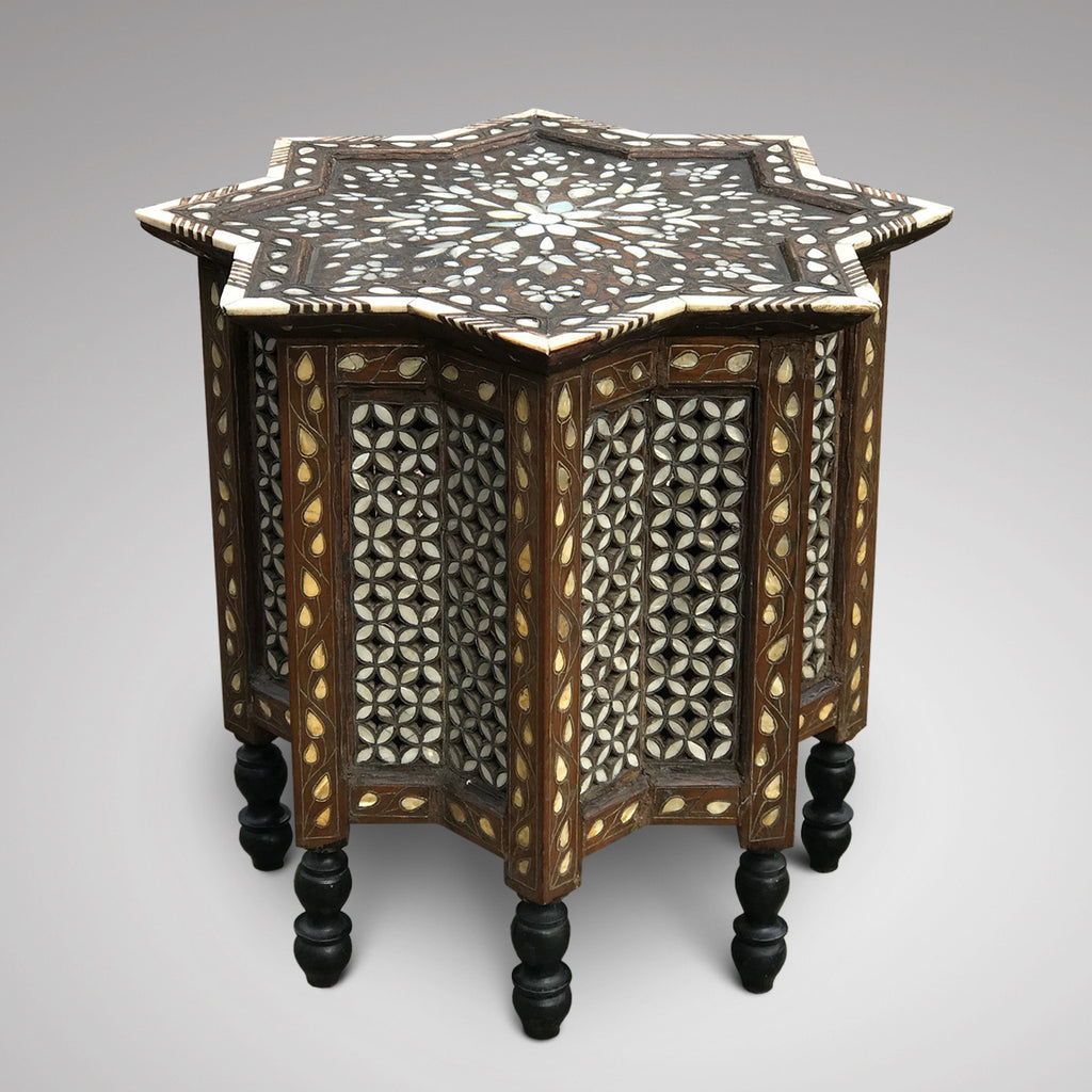 Ottoman Mother of Pearl Inlaid Occasional Table - Main View - 2
