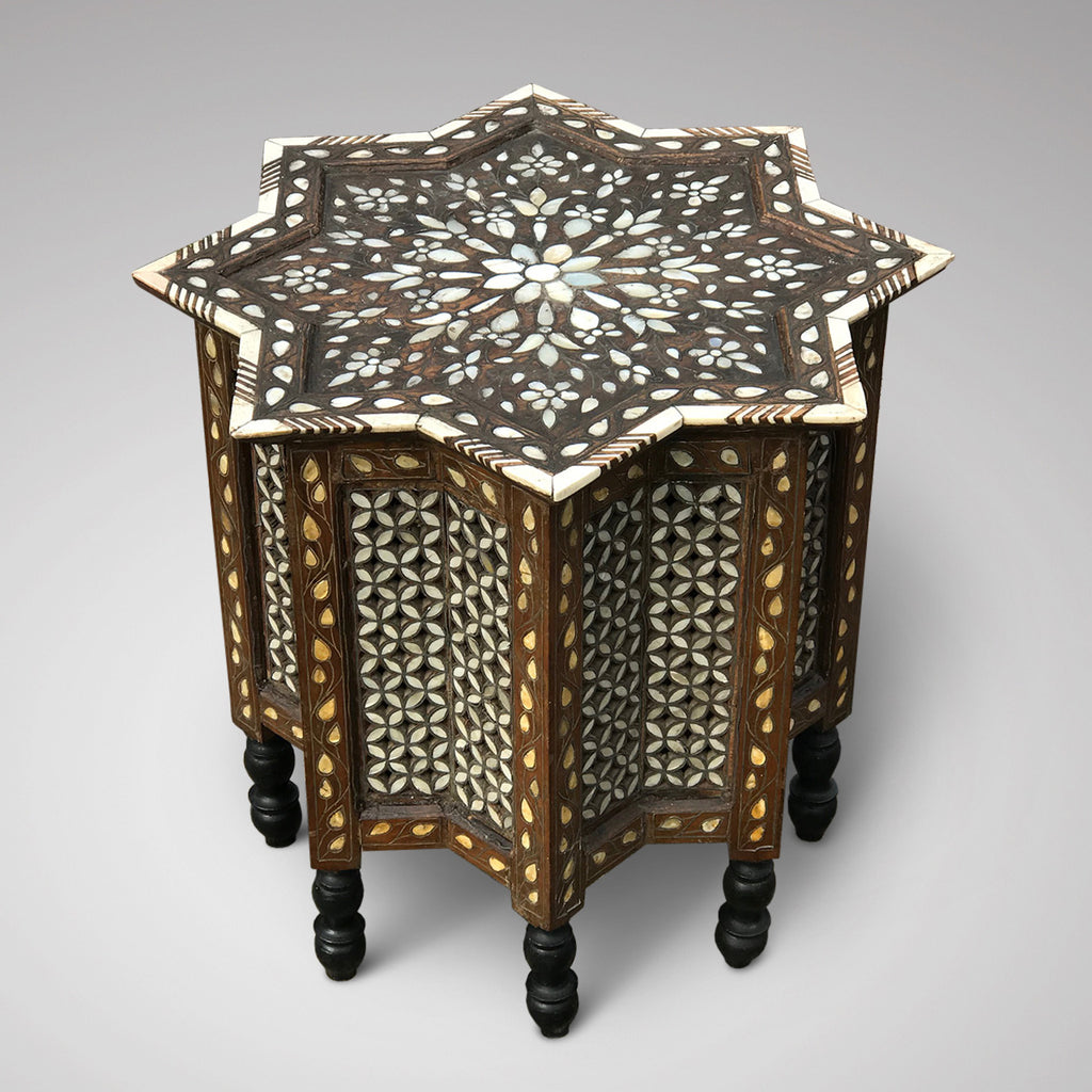 Ottoman Mother of Pearl Inlaid Occasional Table - Main View - 1