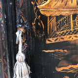 George III Japanned Bow Fronted Corner Cupboard - Detail View - 8