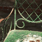 Pair of 19th Century Painted Garden Chairs - Detail View - 5