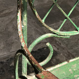 Pair of 19th Century Painted Garden Chairs - Painted Detail View - 3