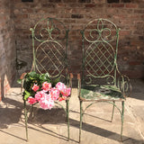 Pair of 19th Century Painted Garden Chairs - Front View - 4