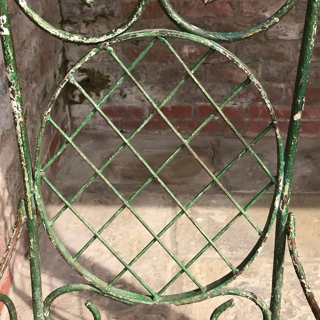 Pair of 19th Century Painted Garden Chairs