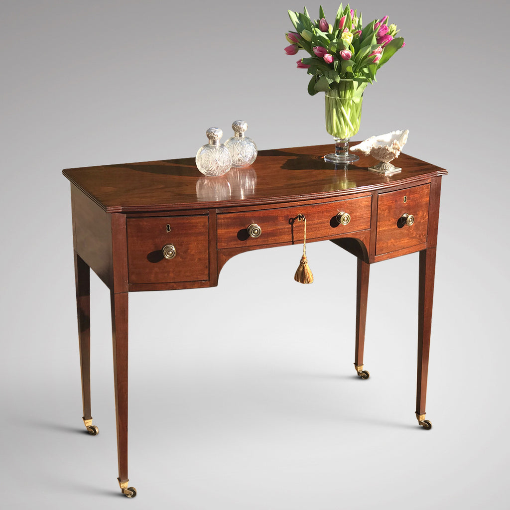 Mahogany Bow Fronted Side Table