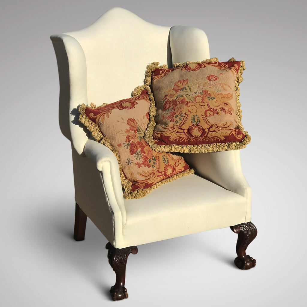 A Pair of Aubusson Style Tapestry Cushions - Main View - 1