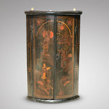 18th Century Chinoiserie Japanned Corner Cupboard - Main Front View - 1