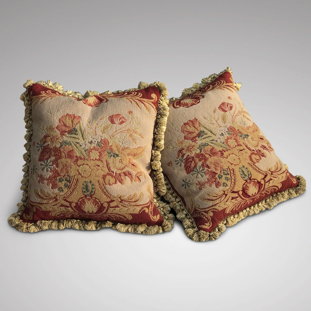 A Pair of Aubusson Style Tapestry Cushions - Main View - 2