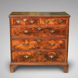Early 18th Century Oak & Walnut Chest of Drawers - Front View - 1