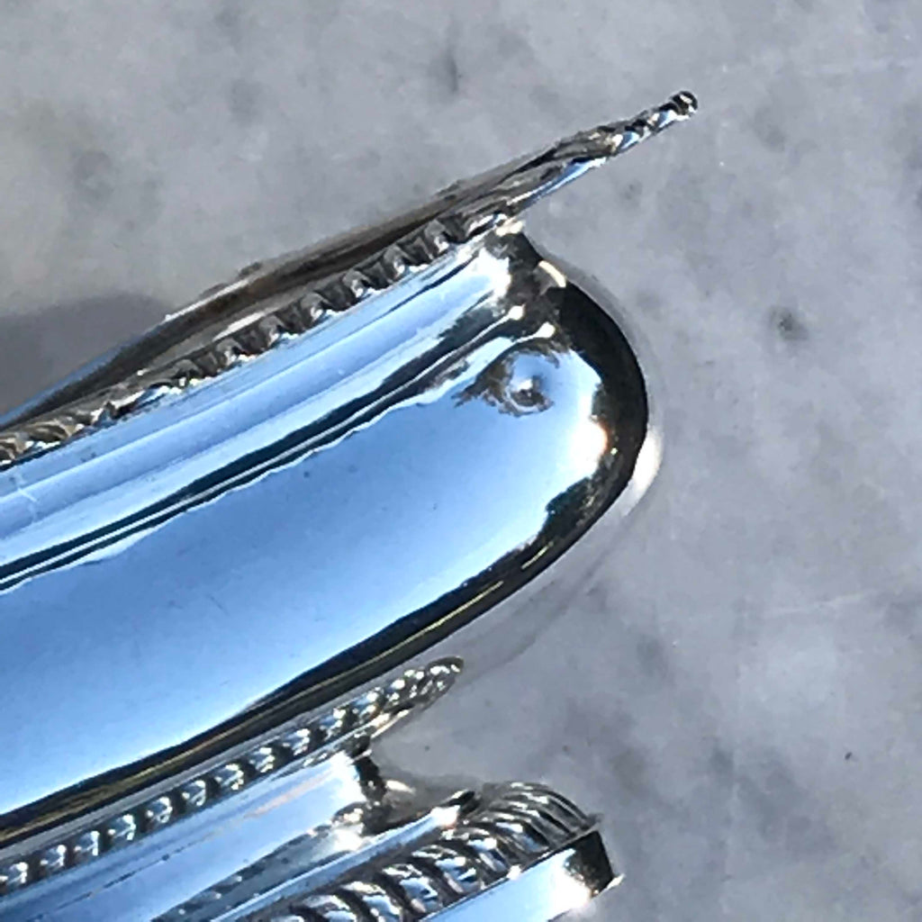Pair of Georgian Silver Table Salts by Rebecca Emes & Edward Barnard - Detail View - 4