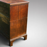 Ear;y 18th Century Oak & Walnut Chest of Drawers - Side View - 4