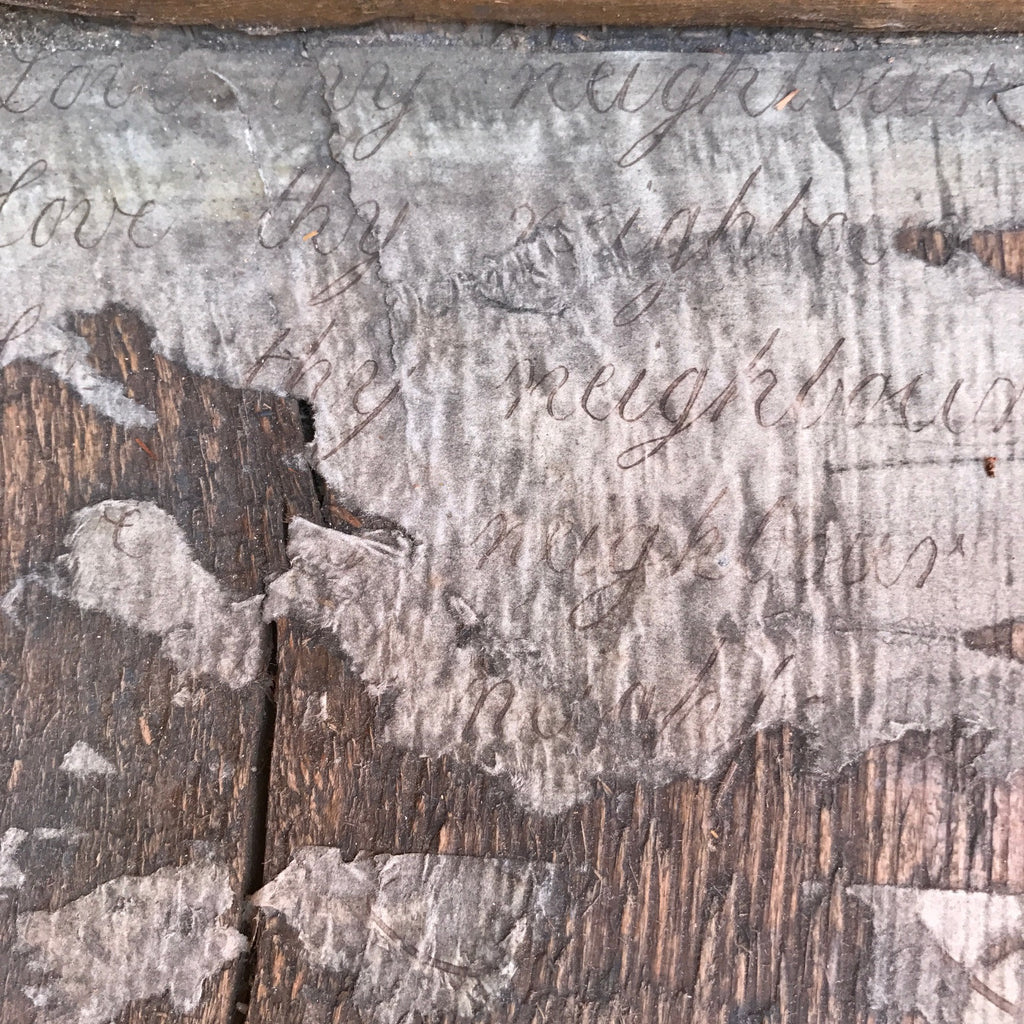 Early 18th Century Oak & Walnut Chest of Drawers - Detail of Lining Paper - 13