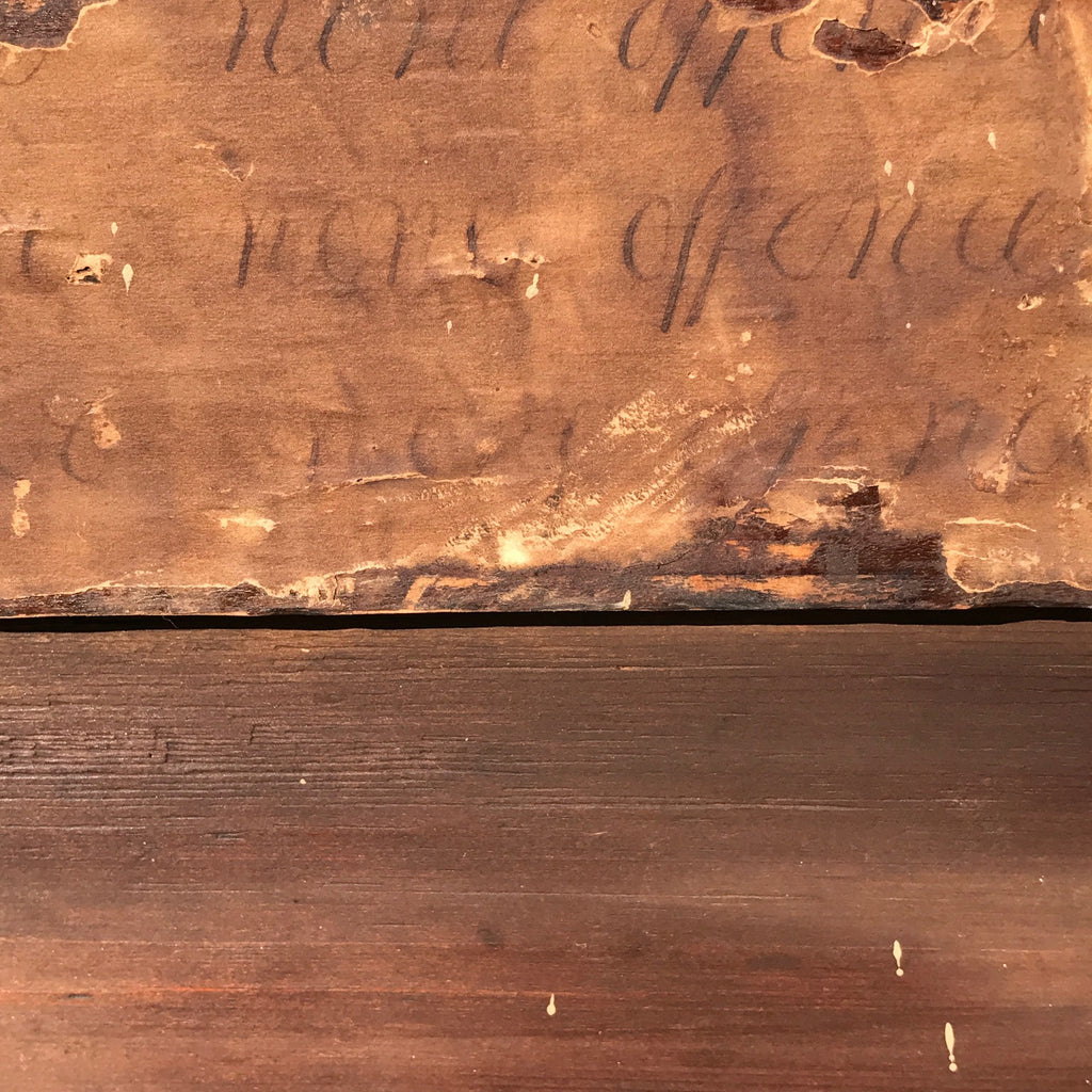 Early 18th Century Oak & Walnut Chest of Drawers - Detail of Paper - 14