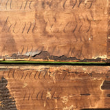 Early 18th Century Oak & Walnut Chest of Drawers - Detail of Paper -15