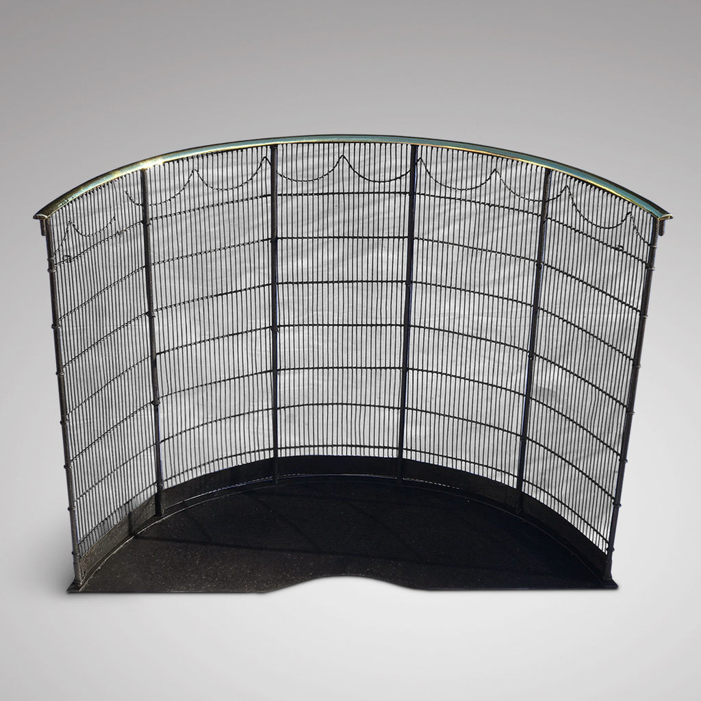 19th Century Curved Fire Guard - Main View - 2