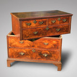 Early 18th Century Oak & Walnut Chest of Drawers - Front View in half - 2