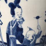19th Century Chinese Blue & White Baluster Vase & Cover - Detail View - 9