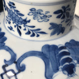 19th Century Chinese Blue & White Baluster Vase & Cover - Detail View - 7