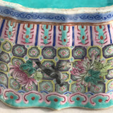 Qing Dynasty Chinese Lobed Rectangular Bowl - Side Detail View - 10