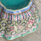 Qing Dynasty Chinese Lobed Rectangular Bowl - Side Detail View - 11