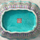 Qing Dynasty Chinese Lobed Rectangular Bowl - Underside View - 4