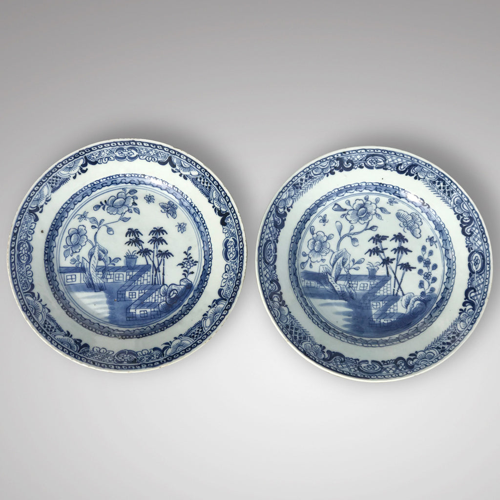 Pair of 18th Century Chinese Blue & White Plates - Main View - 2