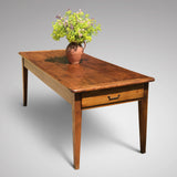 19th Century Elm Dining Table - Front & Side View - 3