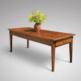19th Century Elm Dining Table - Front & Side View - 2