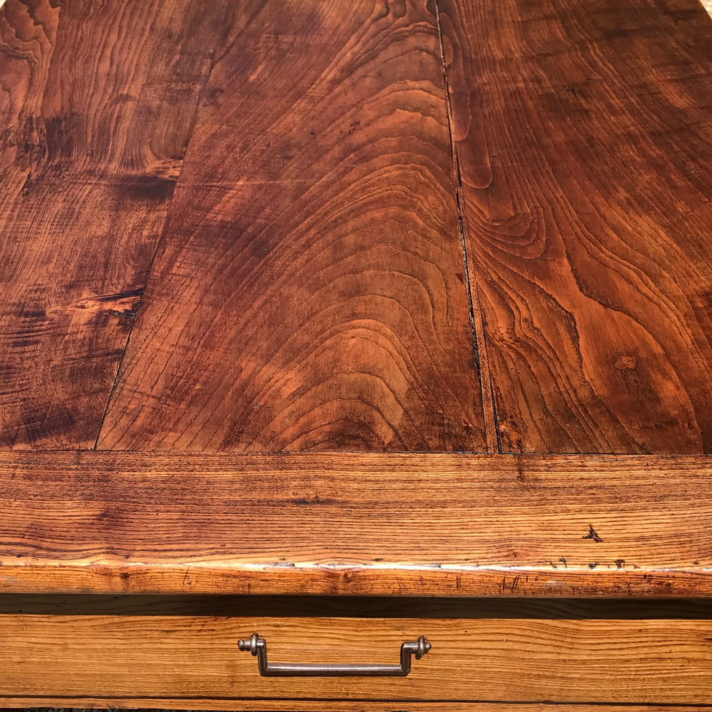 19th Century Elm Dining Table - View of End of Table - 6
