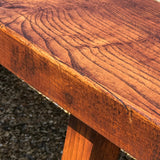 Pair of 19th Century Elm Benches - Close Up View - 5