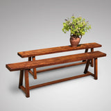 Pair of 19th Century Elm Benches - Main View - 1