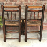 18th Century Elm & Ash Country Chairs - Back View - 2