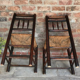 18th Century Elm & Ash Country Chairs - Underside View - 3